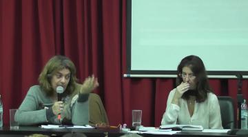 """Jornada """"Repensar la Evaluación en FFyB"""" Panel de la Licenciada Alejandra Amantea y Mag. Marilina Lipsman"""